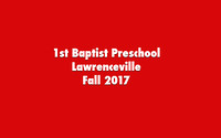 1st Baptist Preschool Lawrenceville Fall 17
