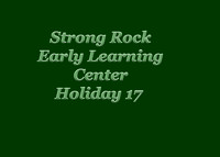 Strong Rock Early Learning HOLIDAY 2017
