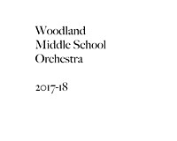 Woodland MS Orchestra 2017-18
