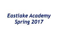 East Lake Academy Spring 2017